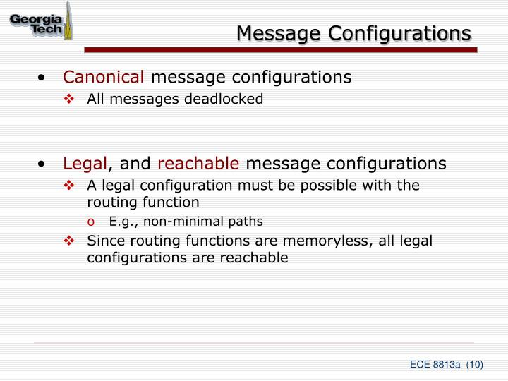 Message Configurations