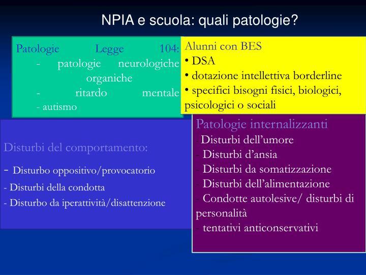 NPIA e scuola: quali patologie?