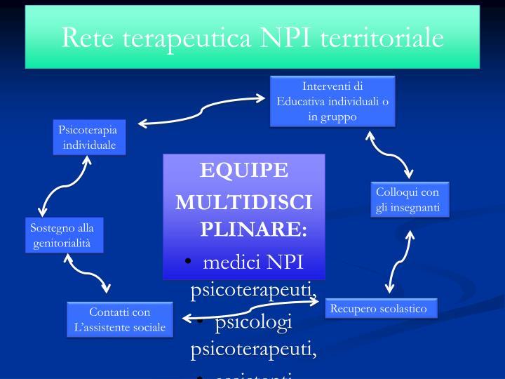 Rete terapeutica NPI territoriale