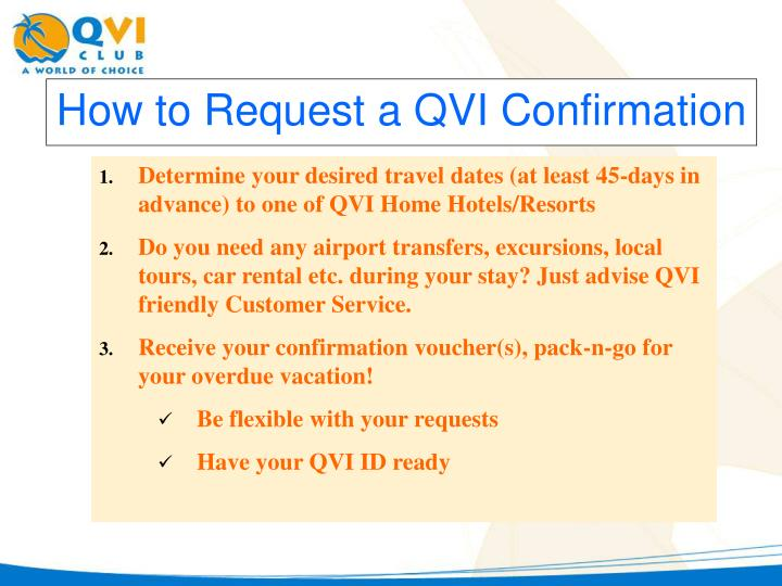 How to Request a QVI Confirmation