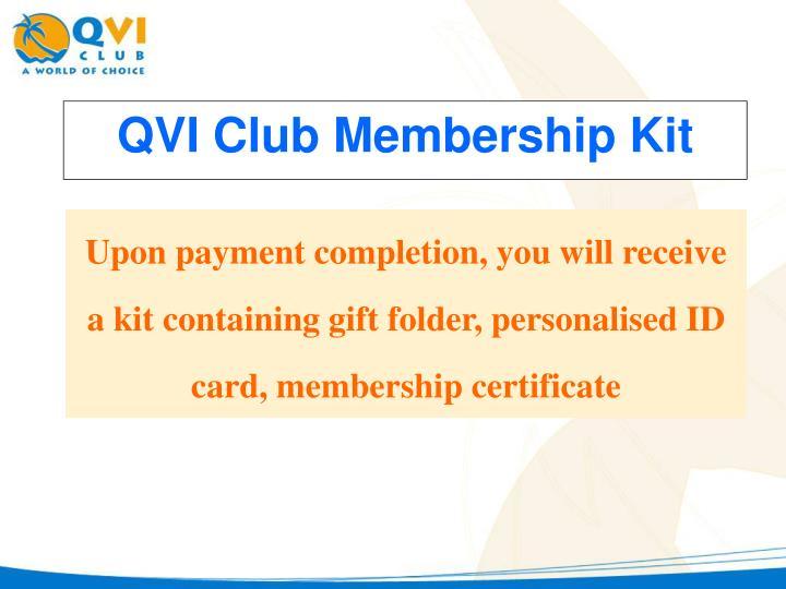 QVI Club Membership Kit