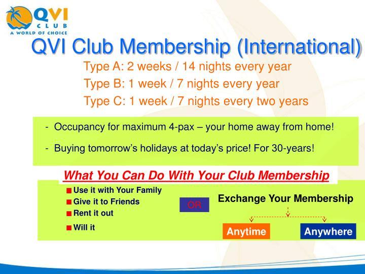 QVI Club Membership (International)