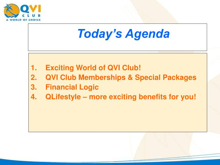 Exciting World of QVI Club!