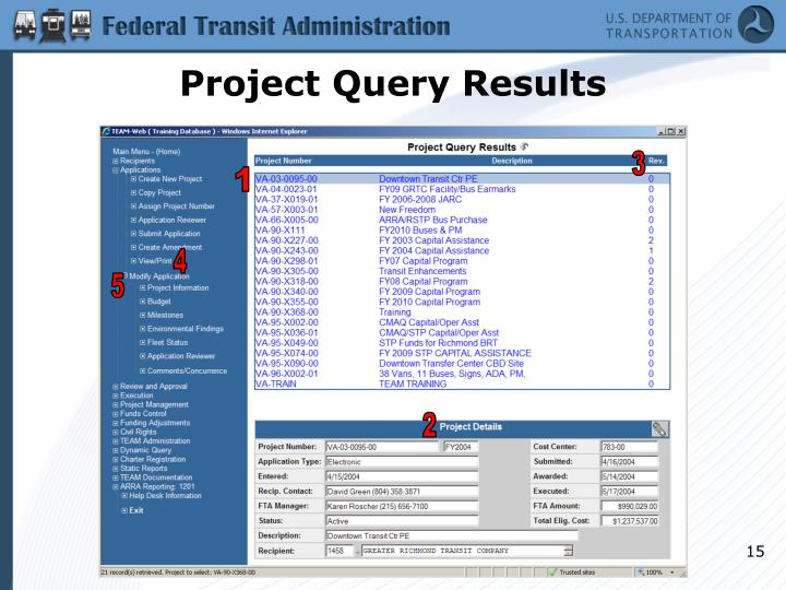 Project Query Results