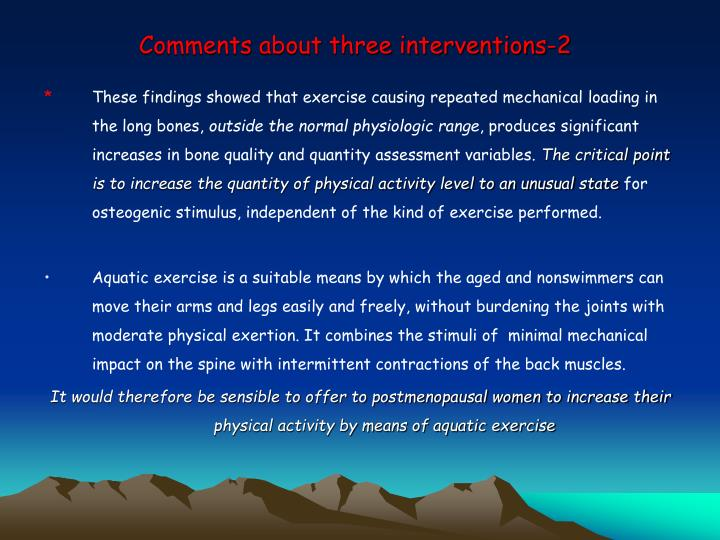 Comments about three interventions-2