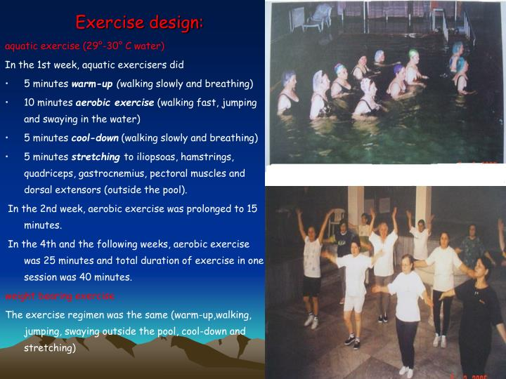 Exercise design: