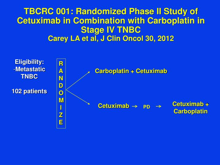 TBCRC 001: Randomized Phase II Study of