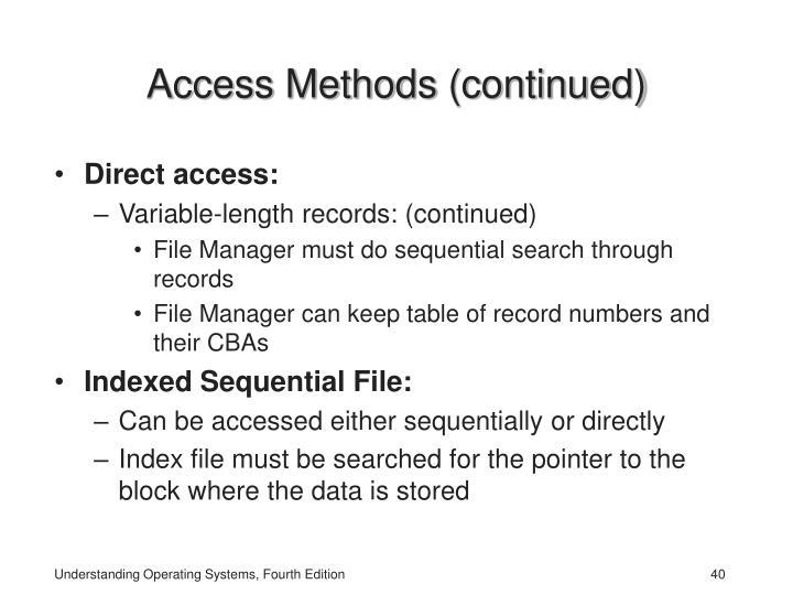 Access Methods