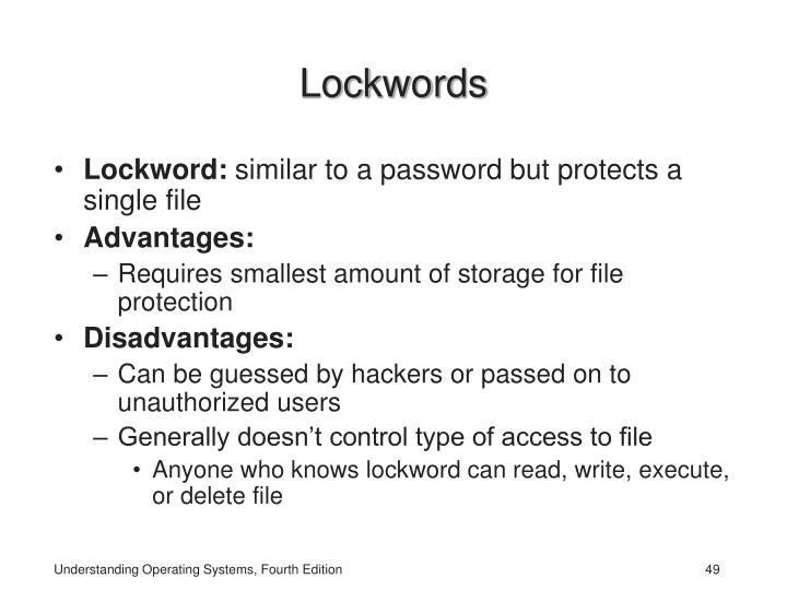Lockwords