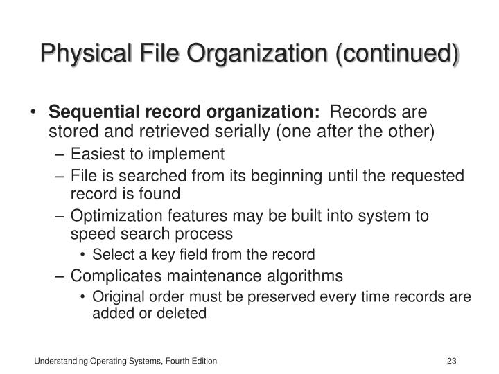 Physical File Organization