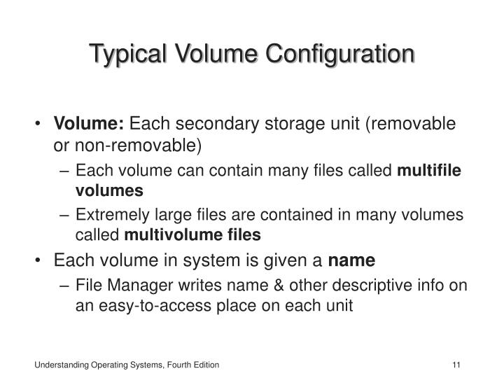 Typical Volume Configuration