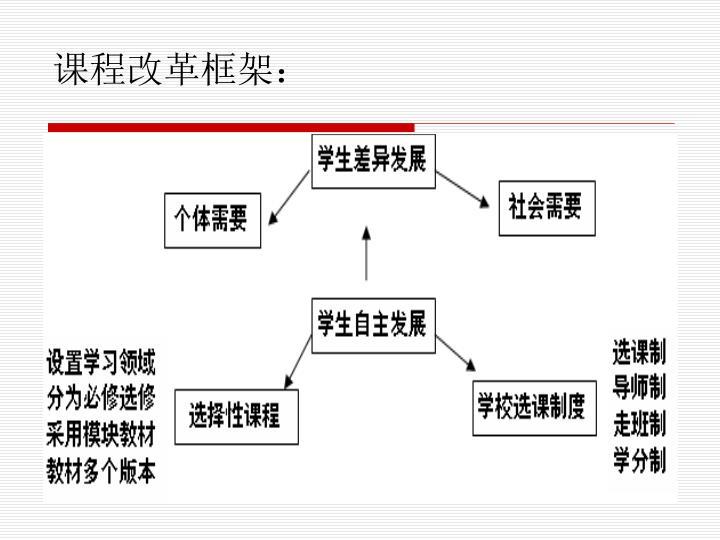 课程改革框架: