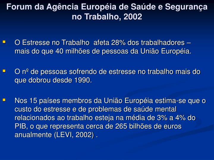 Forum da Agência Européia de Saúde e Segurança no Trabalho, 2002