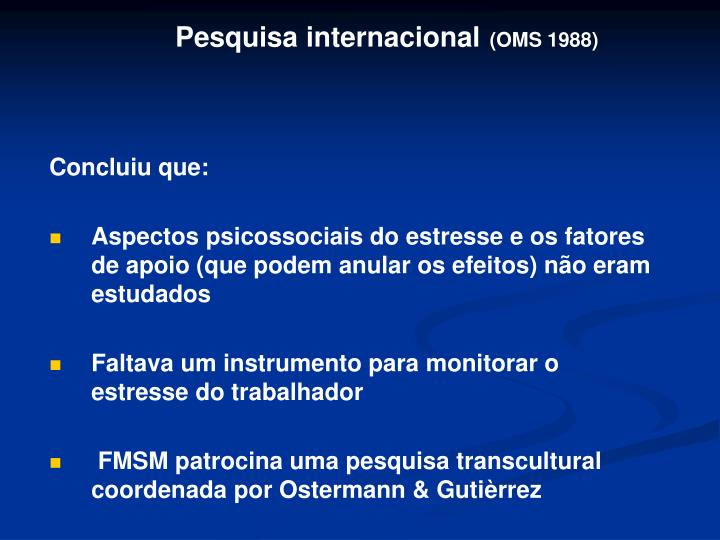 Pesquisa internacional
