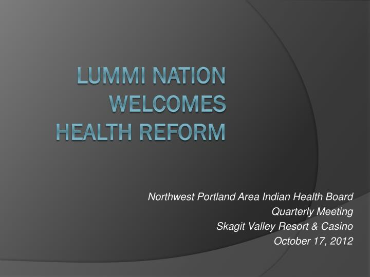 Northwest Portland Area Indian Health Board