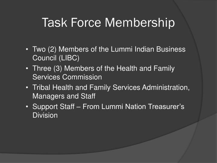 Task Force Membership