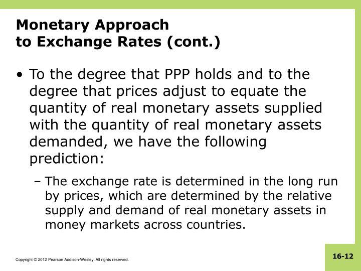 Monetary Approach