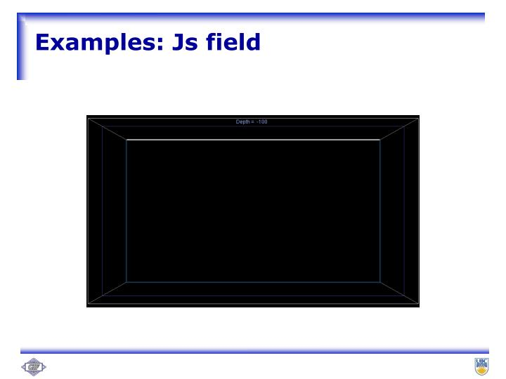 Examples: Js field