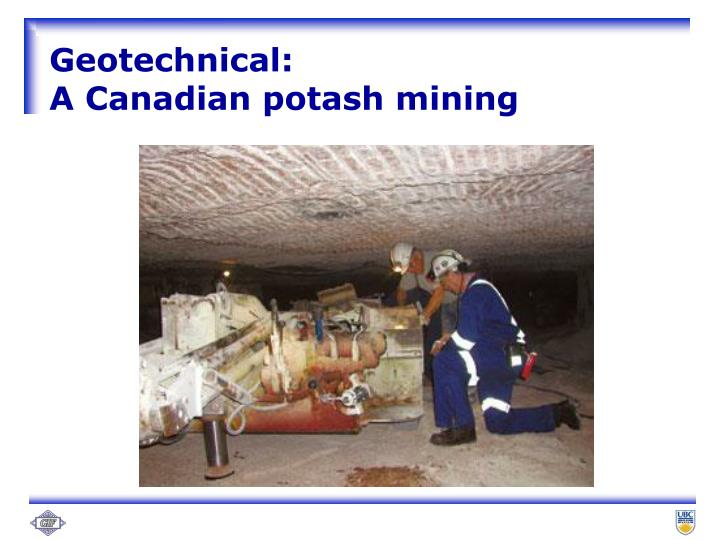 Geotechnical: