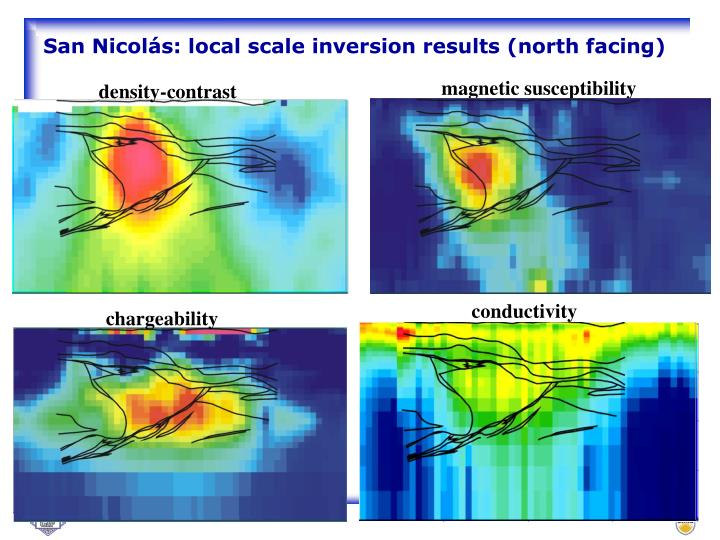 San Nicolás: local scale inversion results (north facing)