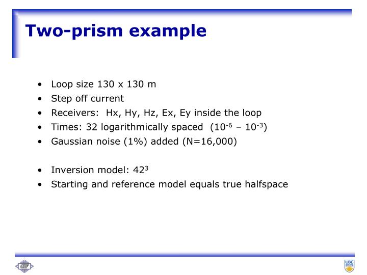 Two-prism example