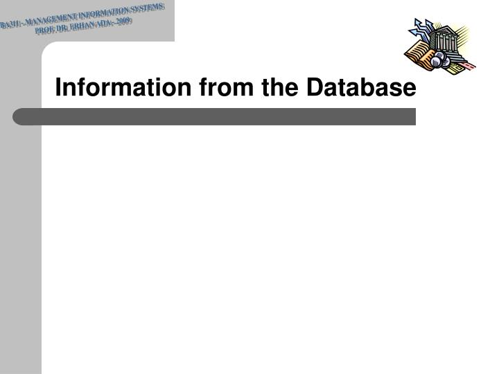 BA311 - MANAGEMENT INFORMATION SYSTEMS