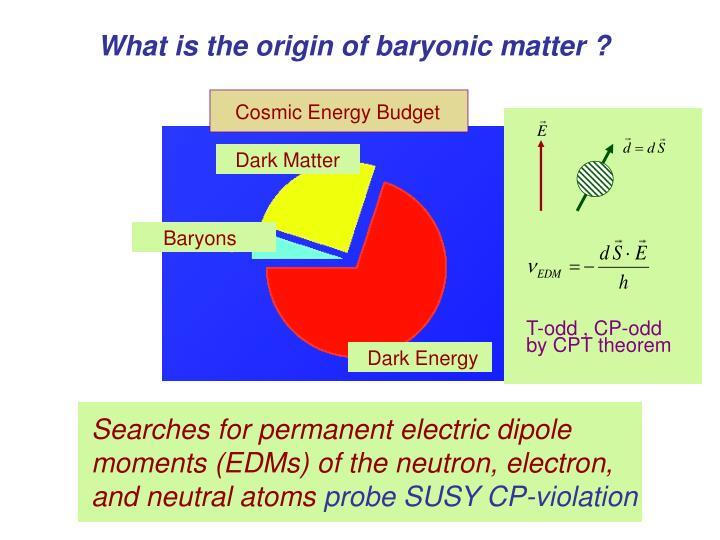 Cosmic Energy Budget