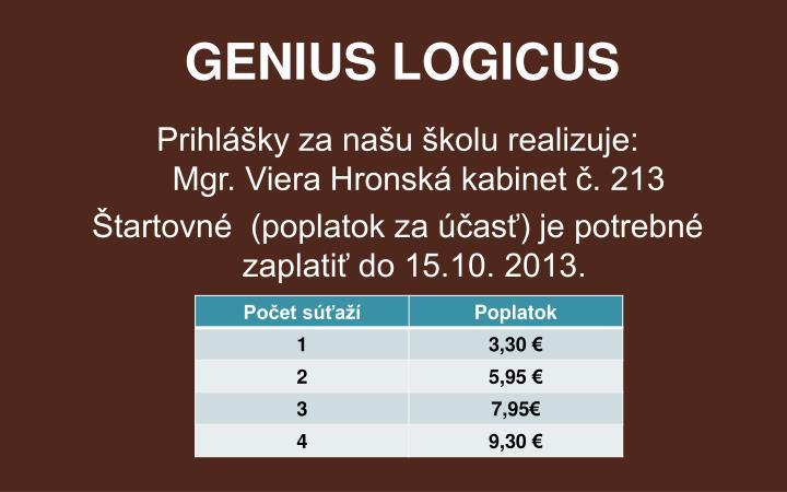 GENIUS LOGICUS