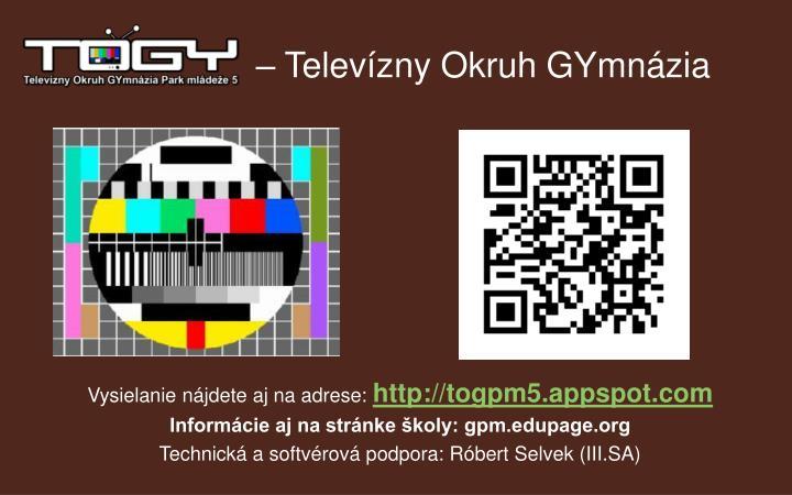 – Televízny Okruh GYmnázia