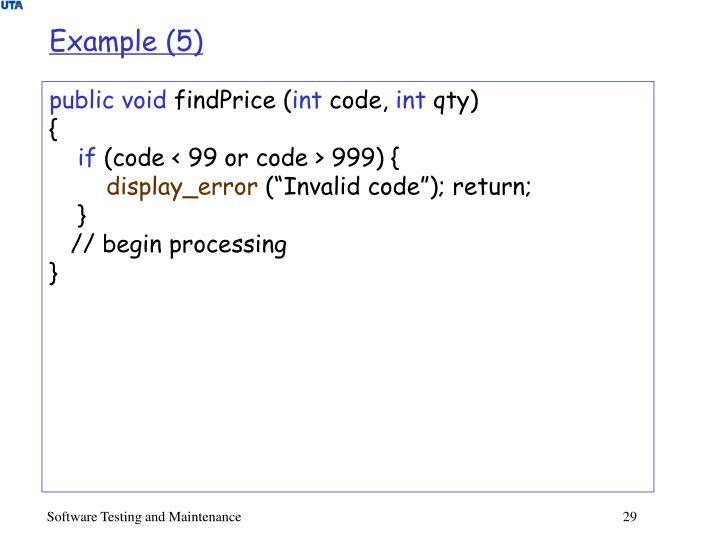 Example (5)