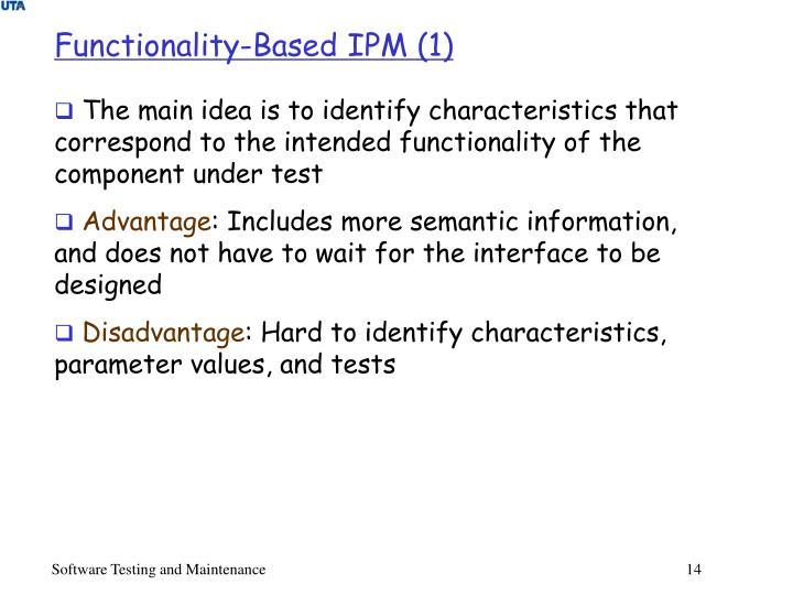 Functionality-Based IPM (1)