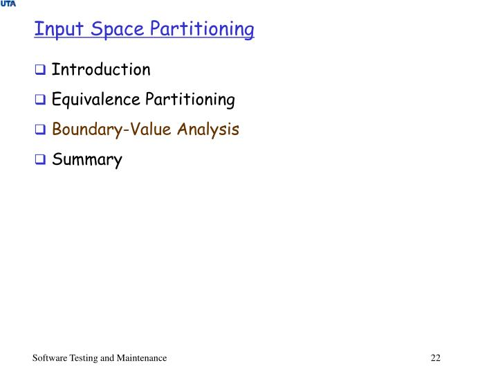 Input Space Partitioning