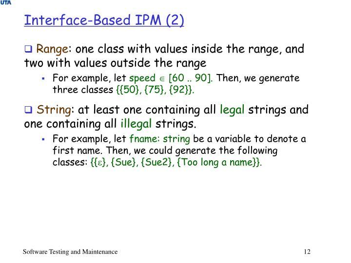 Interface-Based IPM (2)