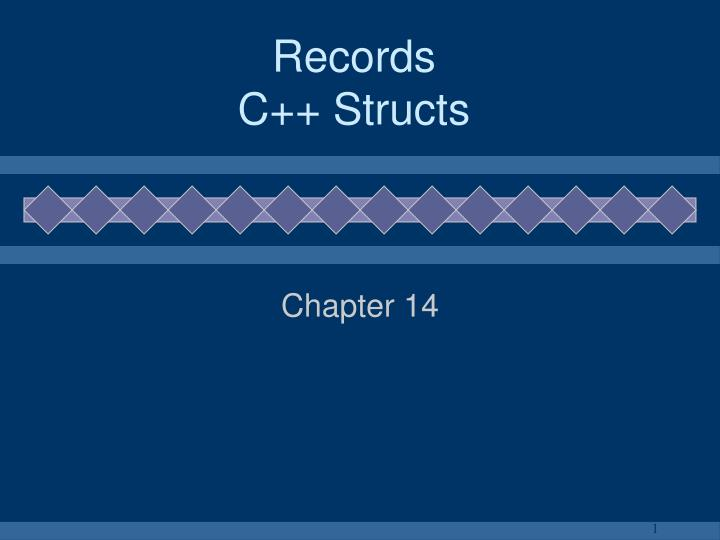 Records c structs