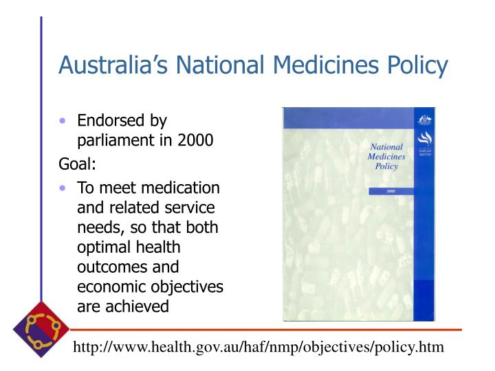 Australia's National Medicines Policy