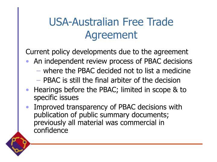 USA-Australian Free Trade Agreement
