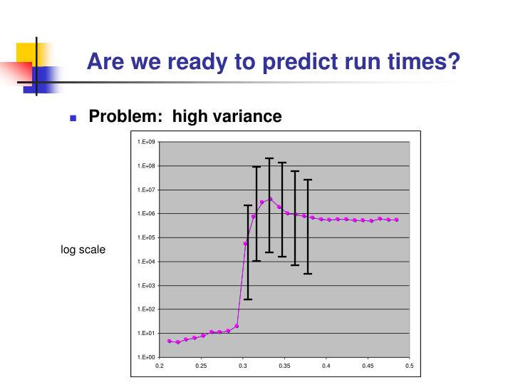 Are we ready to predict run times?
