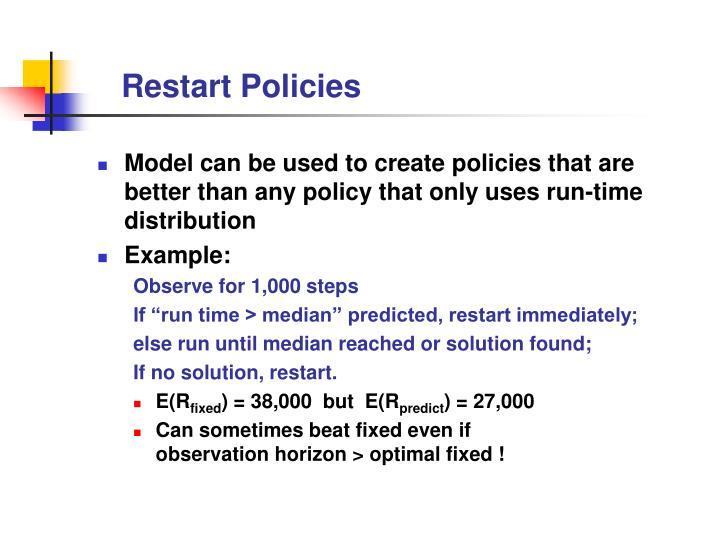 Restart Policies