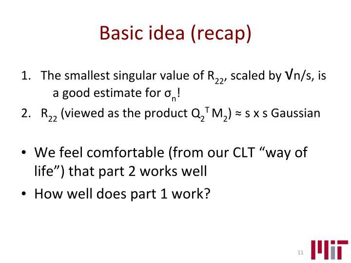 Basic idea (recap)
