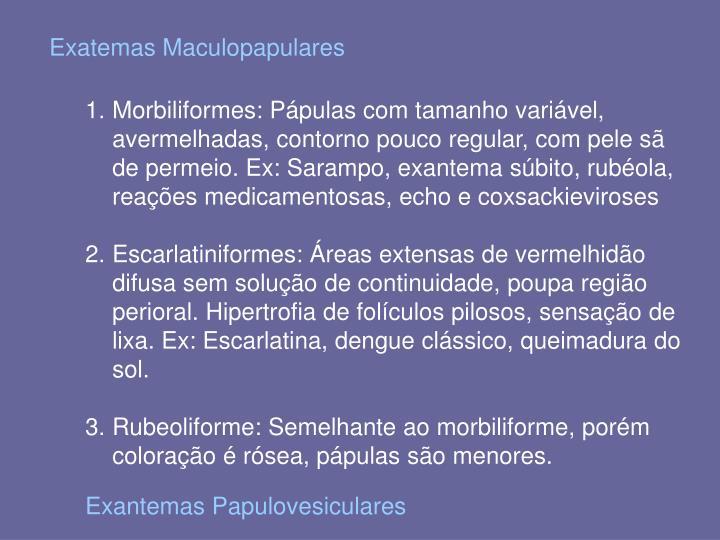Exatemas Maculopapulares
