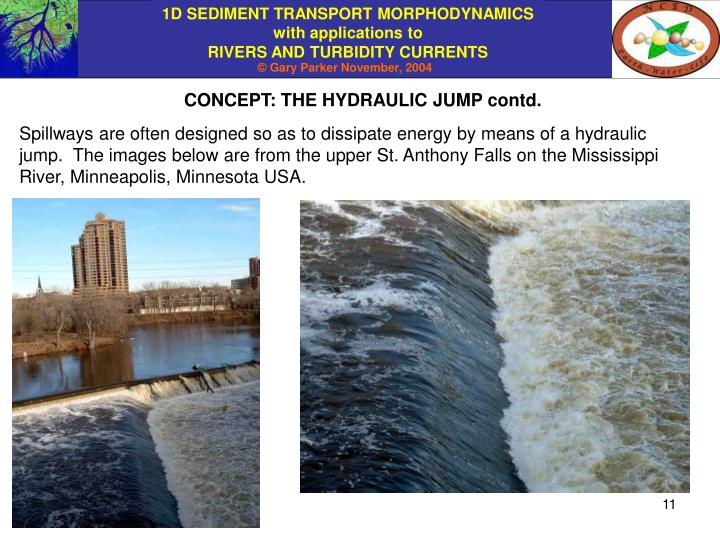 CONCEPT: THE HYDRAULIC JUMP contd.