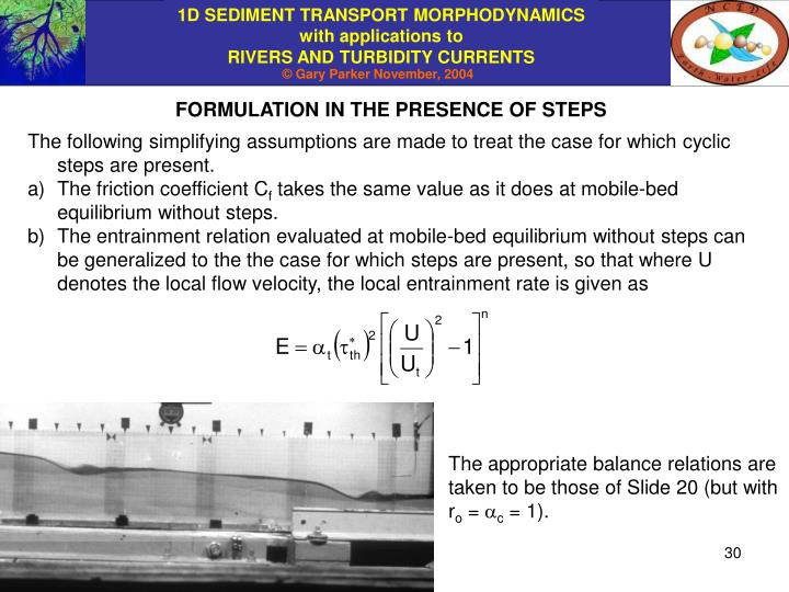 FORMULATION IN THE PRESENCE OF STEPS