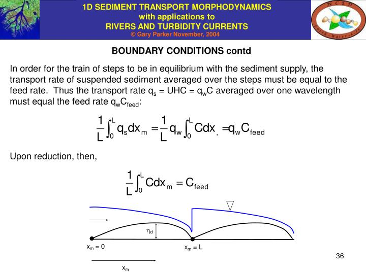 BOUNDARY CONDITIONS contd