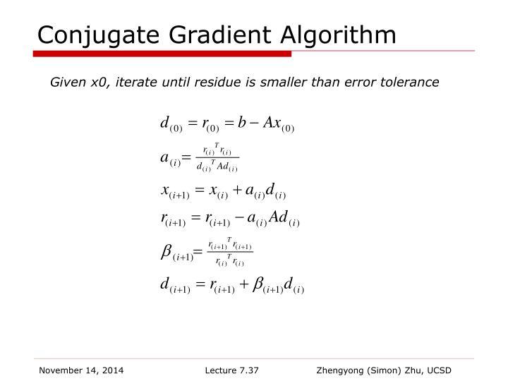 Conjugate Gradient Algorithm