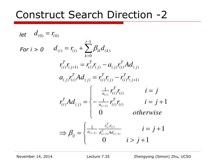 Construct Search Direction -2