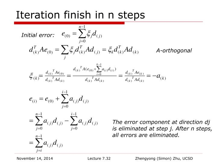 Iteration finish in n steps