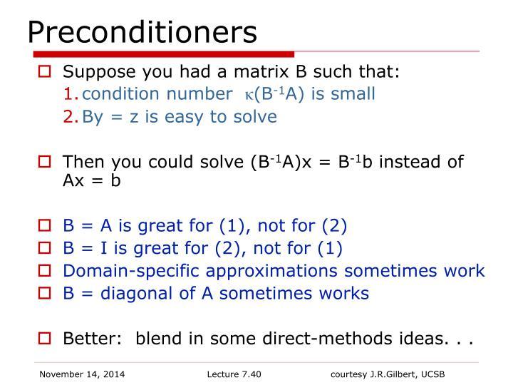 Preconditioners