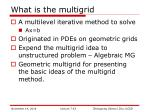what is the multigrid