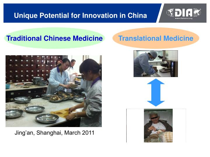 Unique potential for innovation in china