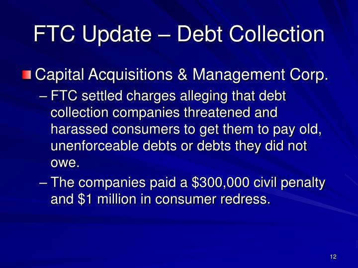 FTC Update – Debt Collection